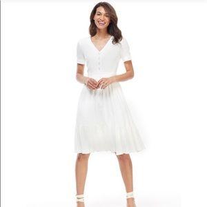 Gal meets glam white linen Angela dress